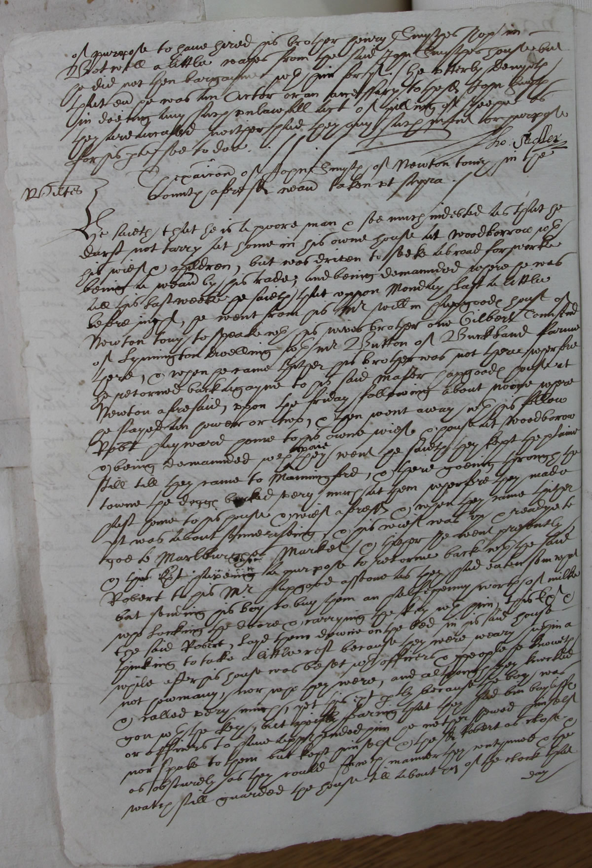 Court Depositions of South West England, 1500-1700